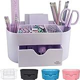 White Lavender Acrylic Desk Organizer for Office Supplies and Desk Accessories Pen Holder Office Organization Desktop Organiz