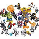 16キャラクターのおもちゃ、積み木アベンジャーズ おもちゃ子供へのプレゼントに一番ふさわしく、とても安全、高さは5センチ、子供へのプレゼント