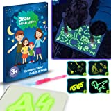 FunkyDog Doodstage Light Drawing Fun and Developing Toy, A4 A3 Light Drawing Painting Doodle Board Pad for Kids Christmas Bir