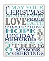 Stupellホーム飾りクリスマスwith Love and Peace Typography Wall Plaqueアート、10x 0.5X 15, Proudly Made in USA