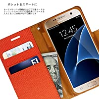 iphone7 iphone8 ケース (オレンジ・橙) GOOSPERY CANVAS LEATHER DIARY 耐衝撃 ノート エッジ レザー ダイアリー 手帳型 MERCURY (正規品) 018-7