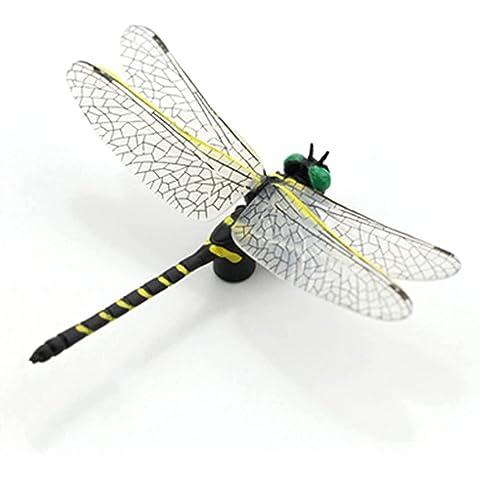 オニヤンマ トンボ 昆虫 動物 虫除け 家 おもちゃ 模型 リアル PVC インテリア 置物 塗装済 完成品 6cm級…