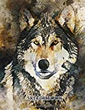 Sketchbook: Wolf Sketch Book (Vol.03) with Blank Paper for Drawing, Painting Creative Doodling or Sketching - 8.5
