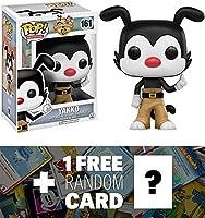 Yakko: Funko POP x Animaniacs Vinyl Figure + 1 FREE American Cartoon Trading Card Bundle (106313)