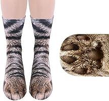 靴下 Timsa 日韓風 レディース かわいい 3D 三次元 動物物柄 スリークォーターソックス 伸縮性良い 綿ソックス 女性 インソックス 滑り止め アウトドア ソックス 部屋着 日常用 フリーサイズ