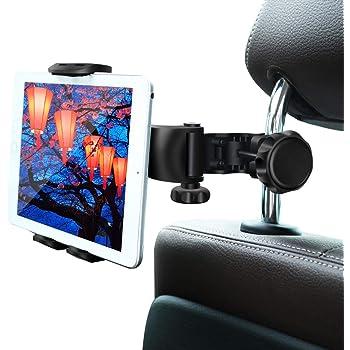 タブレットホルダー Ansteker オーディオ用車載ホルダー 全て車後部座席適用 調節可能 360度回転式 工具不要で取付可能 4-11インチTablet用 スタンド iPhone Samsung Galaxy iPad 2/3/4/mini/air Galaxy Tab/Google Nexusn等対応
