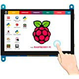 Elecrow 5 inch Capacitive Touch Screen 800x480 TFT LCD Display HDMI Interface Supports Raspberry Pi 2B 3B 3B+ BB Black, Banan