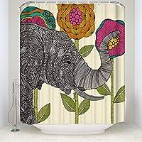 シャワーカーテン バスカーテン Shower Curtain お風呂 120x180cm Elephant