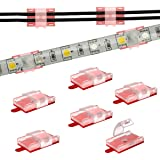 LED Strip Light Mounting Brackets and Clips,Cable Wires Organizer Clips,LED Strip Light Holder Self-Adhesive and Screws Mount