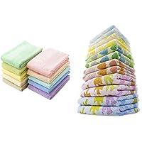 kosugizen フェイスタオル 10色 34×80㎝ 徳用カラータオル 10枚入 & フェイスタオル カラーアソート…