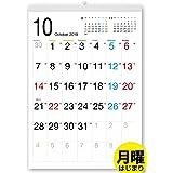 ボーナス付 2021年9月~(2022年9月付)月曜はじまり タテ長スタンダード壁掛けカレンダー(六曜入) A3サイズ[G]