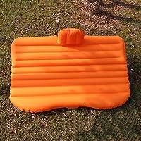 ASL 車インフレータブルベッドカーマットレスSUVカーシート車のリア車旅行旅行アウトドアキャンプベッドエアクッションベッド HAPPY ( 色 : オレンジ )