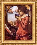 (v04–03–04) ジョン・_ William Waterhouse Destiny_フレーム_キャンバス_ Giclee_プリント_ w22_ X h28 >[Small] #11-Gold V04-03K-MD535-01
