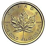 メイプル金貨 1/4オンス 2017製 クリアケース入り カナダ王室造幣局発行 7.77gの純金 品位:K24 (99.99%) 純金 《安心の本物保証》 【保証書付き・巾着袋入り】 24金 カナダ メイプルリーフ 金貨