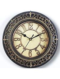 [オマヒット] 掛け時計 おしゃれ 静音 アンティーク 30cm (金)