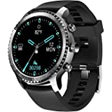 Tinwoo Smart Watch for Men, Support Wireless Charging, Bluetooth Fitness Tracker with Heart Rate Monitor, 2020 Version Smartw