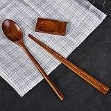 木製 和食器 箸と箸置きとスプーンの三点セット 礼品 天然木製食器 漆塗り 和風 エコ