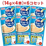 【セット販売】チャオ ちゅ~る 乳酸菌入り かつお (14g×4本)×6コ [ちゅーる]