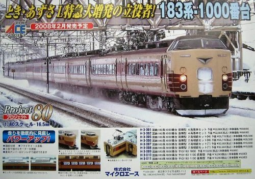 HOゲージ H-3-006 国鉄183系1000番台後期型 2両増結セット (M)
