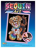 Sequin Art Blue Puppy Sparkling Arts and Crafts Picture Kit Creative Crafts [並行輸入品]