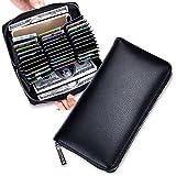 Constantinople カードケース メンズ レディース 財布 本革 クレジットカード 名刺入れ 大容量【72枚収納】