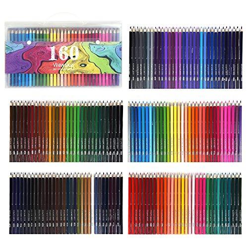 160色セット すぐに使える 塗り絵の本のためにデザインされて、アティスト鉛筆画のスケッチ 大人向けの色鉛筆