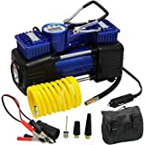 FORUP Dual Cylinder Air Compressor Pump, Heavy Duty Portable Air Pump, 150 PSI, LCD Backlit Digital Display, Auto 12 V Tire I
