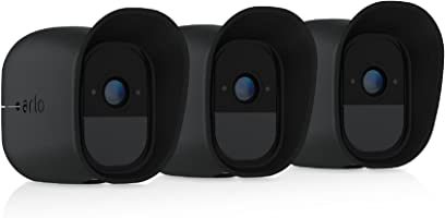 Arlo Pro Skins Designed for Arlo Pro and Pro 2 Wire-Free Cameras (Official), Black, Pack of 3 (VMA4200B-10000S)