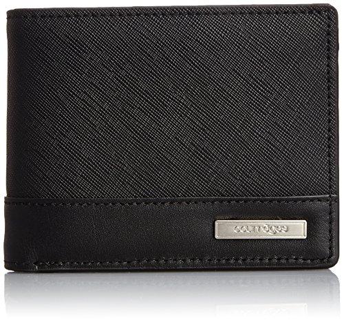 [クレージュ] Courreges courrèges(クレージュ) L字ファスナー小銭入れタイプ 本革二つ折り財布 メタルプレート付 メンズ CU-AF011NT CU-AF011NT BK (ブラック)
