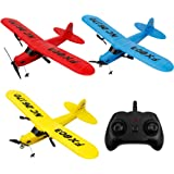 RC Airplane YF-TOW 2.4GHz Remote Control Airplane with 6-Axis Gyro Easy to Fly Birthday for Beginner Kids Boys (Red)