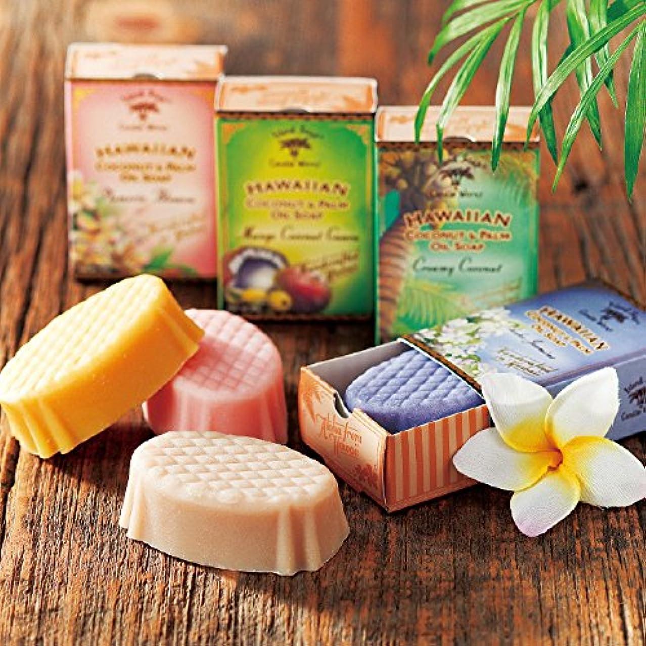 援助するゆり汗[ハワイお土産] アイランドソープ ココナッツソープ 4種セット (海外 みやげ ハワイ 土産)