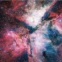 Weaeo 壁紙フラッシュシルバークロス銀河の宇宙天空天体3D星雲壁画の寝室のリビングルーム大きな壁紙の壁紙-280X200Cm