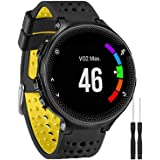 GVangel Band Compatible with Garmin Forerunner 235, Soft Silicone Watch Band Strap Wristband for 220/230/235/620/630/735XT/23