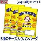 マルシンフーズ 5種のチーズ入りハンバーグ (75g×3個)×10セット【人気 おすすめ 】