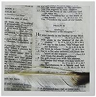 777images DesignsグラフィックデザインBible Bible Verse–写真を開くto Psalm 91と大きなフェザーでマークされます。–グリーティングカード Set of 6 Greeting Cards