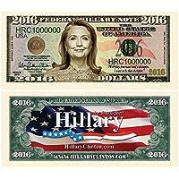 Set of 100 - Hillary Clinton 2016 Presidential Dollar Bill [並行輸入品]