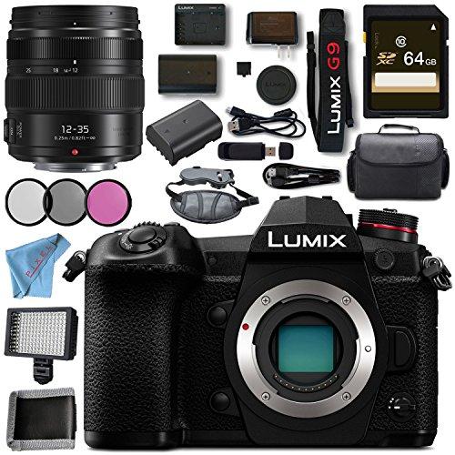 Panasonic Lumix DMC - dc-g9ミラーレスMicro Four Thirdsデジタルカメラ+ 64GB SDXCカードメモリバンドル, w/12-35MM, DC-G9-5