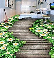 C348 巨大 3D フロアマット 2m*3m* 自然 葉っぱ 石 芝生 花 木 空 風景 景色 防音 断熱 滑り止めシート 床 壁 天井 はがせるシール