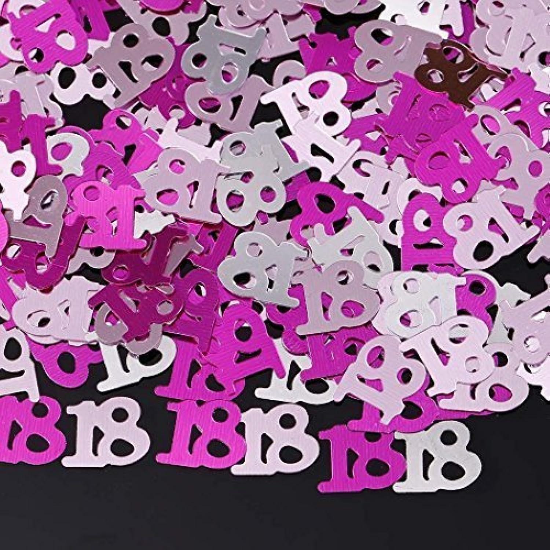 異なる数の誕生日パーティーの装飾的な結婚式のお祝いの紙吹雪