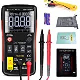FASTTOBUY Digital Multimeter, Portable Multimeter Tester Auto Ranging 9999 Counts Frequency Counter Voltage AC/DC Current Ohm