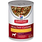 Hills Science Diet Adult Healthy Cuisine Roasted Chicken, Carrots & Spinach Stew Canned Dog Food, 354g, 12 Pack