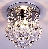 DAXGD 水晶ペンダントライト 現代的クリスタル シーリングライト 北欧型天井照明 天井シャンデリア LEDライト付き (15cm)