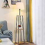 Modern Shelf Floor Lamp Lighting Home Living Room Bedroom w/Storage Shelves