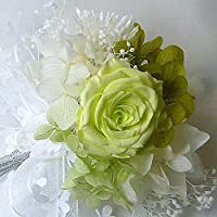 194【コサージュ プチS】(プリザーブドバラ)【結婚式、入学式、卒業式】 フレッシュグリーン プチS