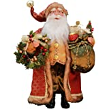 "16"" Inch Standing Crimson Santa Claus Christmas Figurine Figure Decoration 41606"