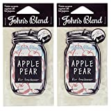 ノルコーポレーション ルームフレグランス Johns Blend エアーフレッシュナー 2枚セット アップルペアー