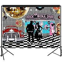 musykrafties 50年代 食堂の背景 大きなバナー 装飾 デザートテーブル背景 画像ブース 213.36*152.4cm