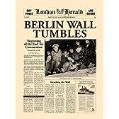 ベルリンの壁崩壊 ロンドンヘラルド 1989/11/11【ポスター+フレーム】31x41cm ブラック