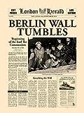 ベルリンの壁崩壊 ロンドンヘラルド 1989/11/11【ポスター+フレーム】31x41cm シルバー