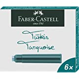 Faber-Castell Standard Fountain Pen Cartridges Ink– Pack of 6 (Turquoise)
